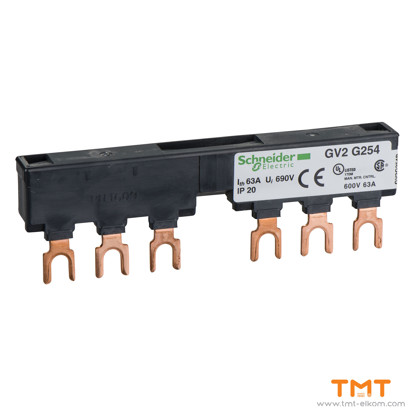 Picture of 2 TAP-OFFS BUSBAR GV2 63A 54MM PITCH
