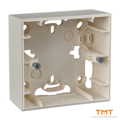 Picture of 1 gang surface mounting box ivory