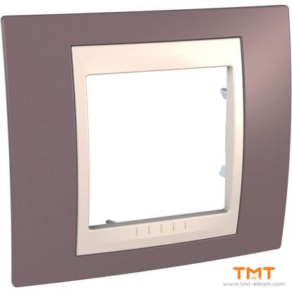 Picture of 1gang c. frame Mauve/Iv