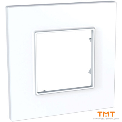Picture of 1 gang Quadro cover frame White