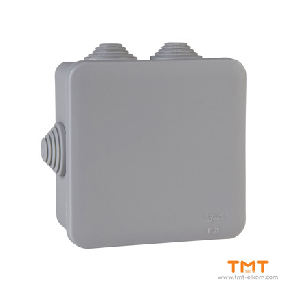 Picture of Junction box square 100x100x50 grey