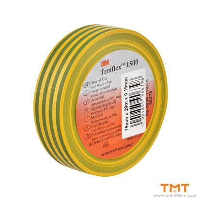 Picture of PVC Tape 19mmx20m yelow/green 3M