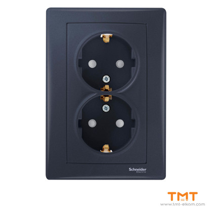Picture of Sedna-dbl socket outl sideE-16A shut gr
